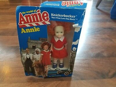 Vintage Knickerbocker The World Of Annie ANNIE Doll MIB!! 1982