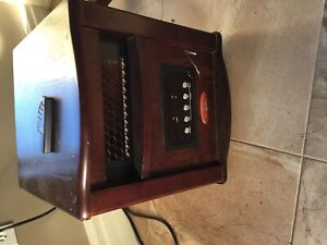 Duraflame infrared heater with remote