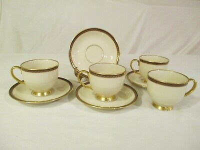 Lenox China Monroe CUP & SAUCER Set of 4 Good Condition Monroe Lenox China