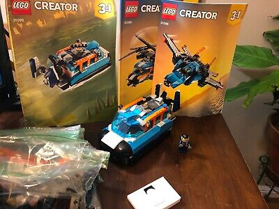 LEGO Creator - 3 in 1 set - Boat / Helicopter / Jet set # 31096 100% READ