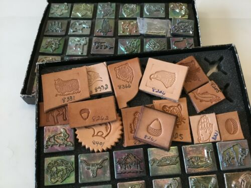 """SELECT  LOT #02 Midas 2-3D leather Stamp 1"""" x 1 3/16""""  flat shipping rate"""