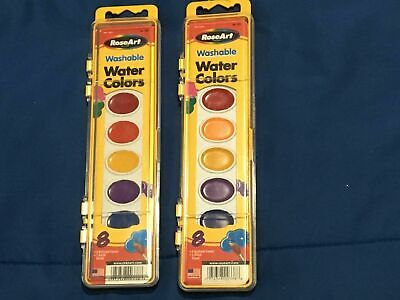 2 RoseArt Washable Water Color 8 Colors/1 Brush + 4 Pack Crayola Brushes *NEW* - Crayola Watercolor