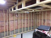 Handyman Services: Basement Framing, Deck, Garage Shelving