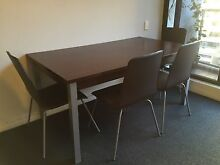 Wooden Dining Table with 4 Chairs St Leonards Willoughby Area Preview