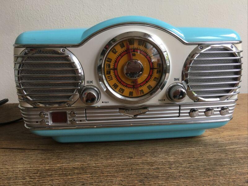 Vintage Look Memorex Radio Stereo CD Player Aqua Turquoise Retro AM/FM Nostalgic