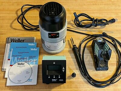 Weller Soldering Rework Station Wd-1m Power Supply Fume Extractor Wfe2p Iron