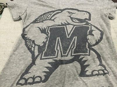 Womens Under Armour Maryland Terps S S T Shirt Gray Size L Nwt