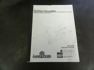 Land Pride Fsp500 Fsp700 Fsp1000 Fertilizer Spreaders Operators Manual