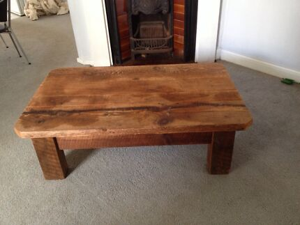 Solid hardwood rustic coffee table Merewether Newcastle Area Preview