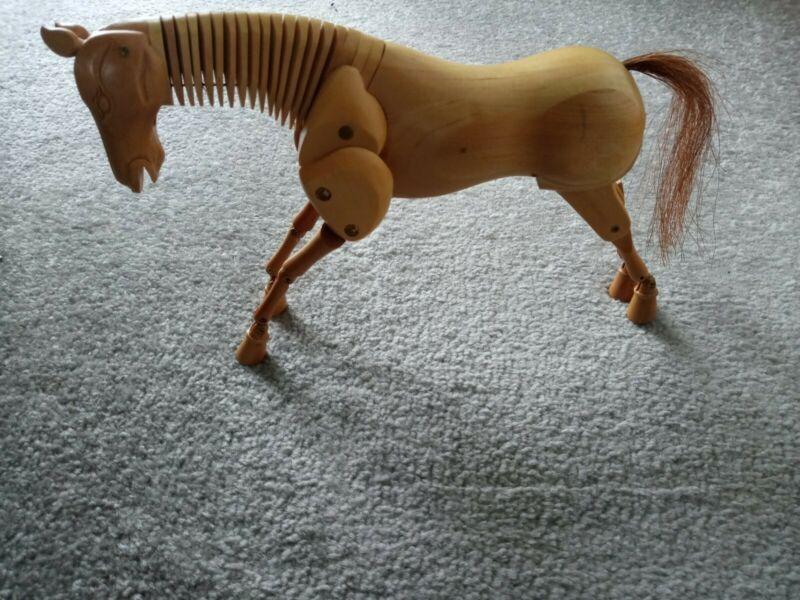 """8"""" Artist Wooden Horse Model fully Moveable For Artist """"Very Good"""" without stand"""
