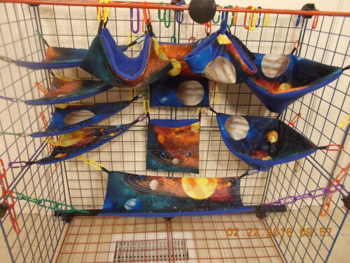 SOLAR SYSTEM  Sugar Glider 11 pc cage set