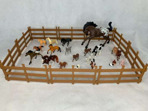 Breyer and Dreamworks Horse and Accessory Lot Truck & Trailer & Stable