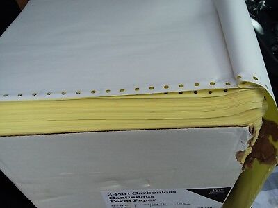 Case 9.5 X 11 2 Part Carbonless Continuous Form Paper 1650 Sheets White Canary