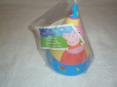 NEW PEPPA PIG PARTY HATS  8 PARTY FAVORS