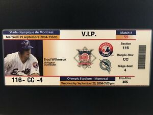 Montreal Expos FULL SEASON TICKET last home game Sept 29 ´04