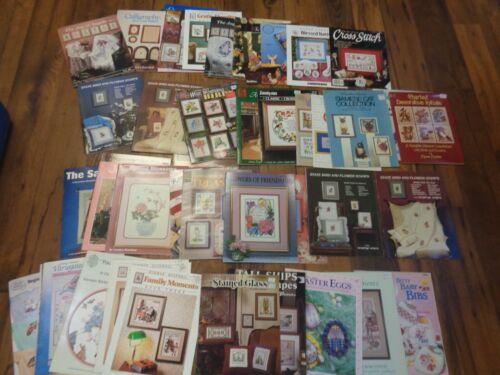 Lot of 50 Assorted Charts - Cross Stitch Patterns