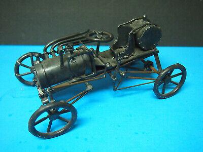 Vintage Antique Handmade Folk Art Welded Metal Car-