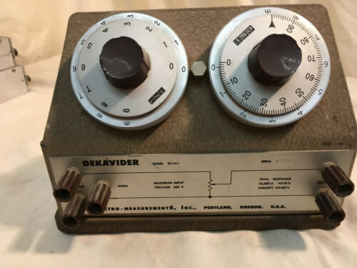 Dekavider DV-411 Voltage Divider Electro-Measurements Inc. 10KΩ Tested Working