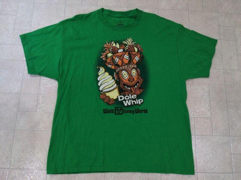 Disneyland Shirt Men's XL Walt Disney World Dole Whip Green Vintage Style