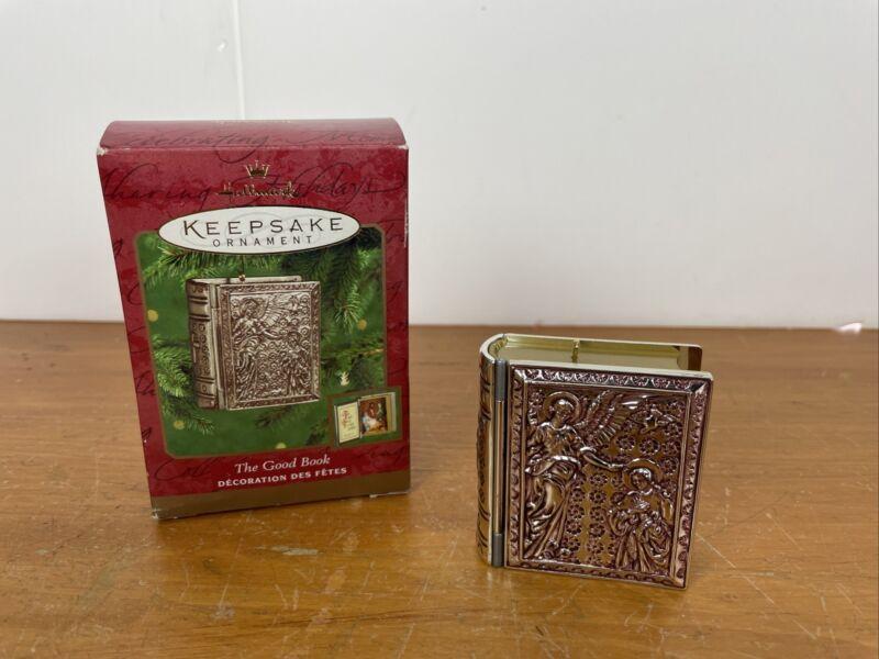 Hallmark Keepsake Ornament THE GOOD BOOK Dated 2000 Opens To Scene Inside