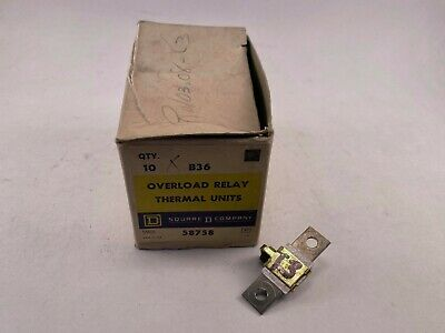 Square D B36 Overload Relay Thermal Unit Used