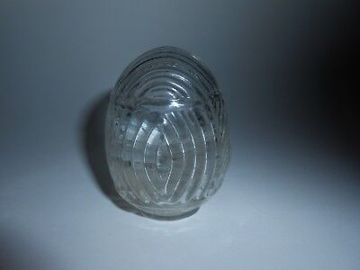 1 VTG/ANTIQUE USA ART DECO CLEAR GLASS BIRD CAGE FEEDER/SEED/WATER CUP/BOWL