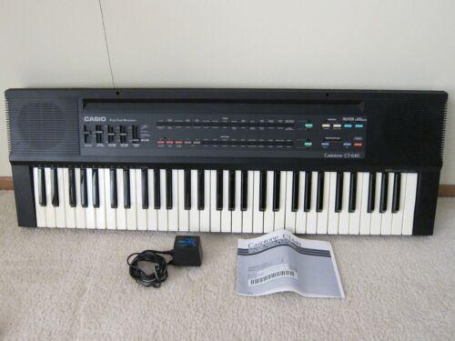 Vintage Casio Casiotone CT-640 Keyboard MIDI 465 Sound Tone Bank