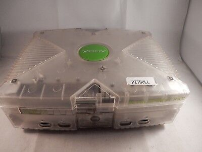 Original Microsoft Xbox August 2001 PROTOTYPE CLEAR DEVELOPMENT CONSOLE (#S734) for sale  Shipping to South Africa