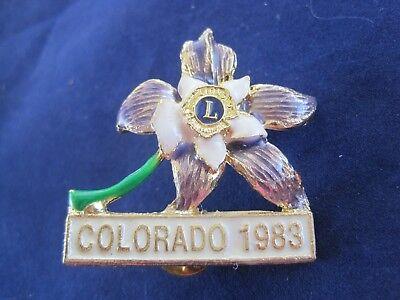 """Colorado Lions Pin 1983 1 3/4"""" x 1 1/2"""""""