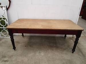 C47003 Vintage Baltic Pine Country Farmhouse Dining Table Unley Unley Area Preview