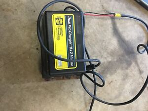 Boat dual battery charger