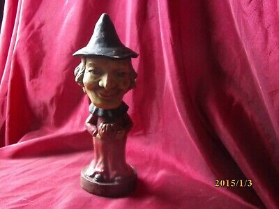 EARLY RARE BETHANY LOWE HALLOWEEN PAPER MACHE WITCH CANDY CONTAINER