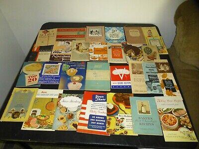 Vintage Lot 30 Advertising Paper Ephemera Cookbook Recipe Karo Betty Crocker etc