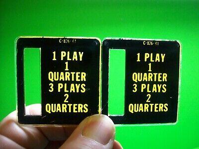1 Play 1 Quarter Pinball Machine C-826-61 Bally Stern Plastic Coin Plates #4