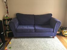 Blue velour sofa Willoughby Willoughby Area Preview