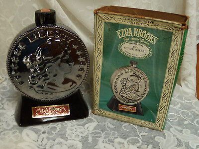 Ezra-Brooks-1804-Silver-Dollar-Genuine-Fired-Platinum-Decanter-with-Box 1969