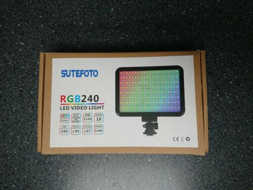 NEW Sutefoto RGB 240 portable LED rechargeable light with battery, and charger!