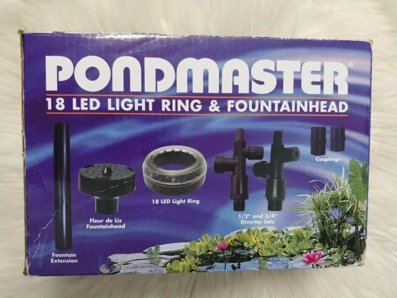 DAN-02180, Pondmaster LED 18 Pond Light Ring With Fountain Head