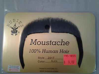 Black Mandarin Moustache 70's 80's Fu Manchu Mustache 100% Human Hair Style 2017 - 70s Mens Hairstyles