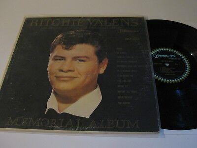 Ritchie Valens Lp  Memorial Album  Rare Black Cover Del Fi Mono