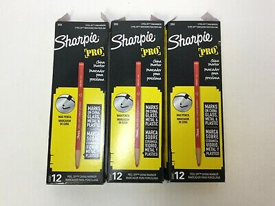 Sharpie 2059 Peel-off China Marker Red 36 Count