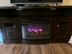 LED fire place TV stand