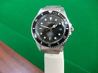 Vintage Bulova Automatic Divers Submariner Style Watch