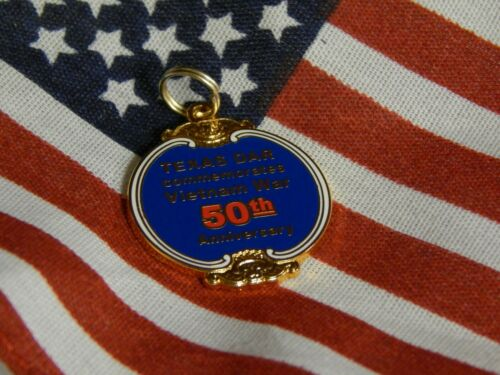 Texas DAR commemorates Vietnam War 50th Anniversary - Unique One of a Kind Charm