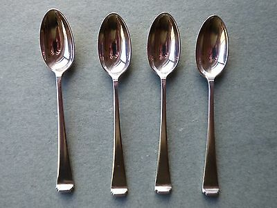 4 Solid Silver Coffee Spoons Art Deco - Mappin & Webb Sheffield 1936 - 63 grams