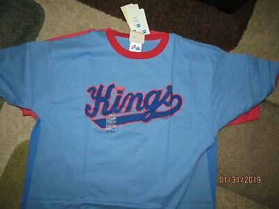 1c24faaee majestic NBA Sacramento Kings t shirt hardwood classic XL Rare   Vintage  NWT!