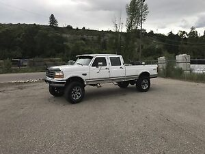 1996 F350 crew cab long box xlt 7.3