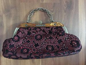 Red Retro purse