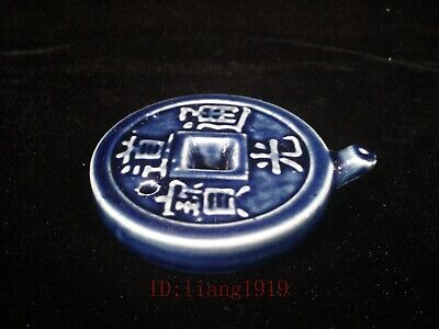 Collection Old China Porcelain Coin Shape Water Washing use Ink Decoration
