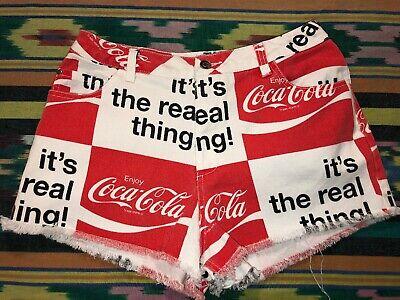 Coca Cola Womens Denim Cutoff Shorts Size Medium M Jean